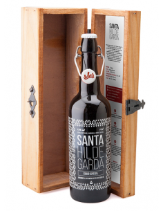 Estuche de madera con 1 botella de cerveza SANTA HILDEGARDA de 75 cl